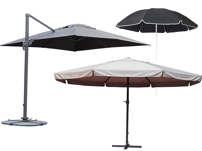 parasoller Få læ for sol og regn   se udvalget af parasoller her parasoller