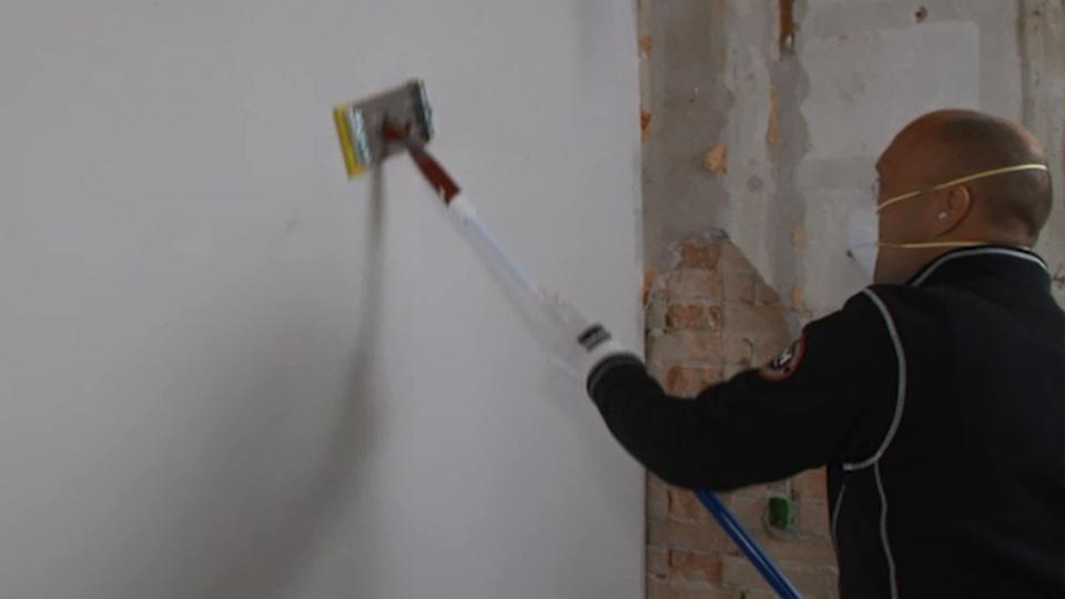 filt på væg